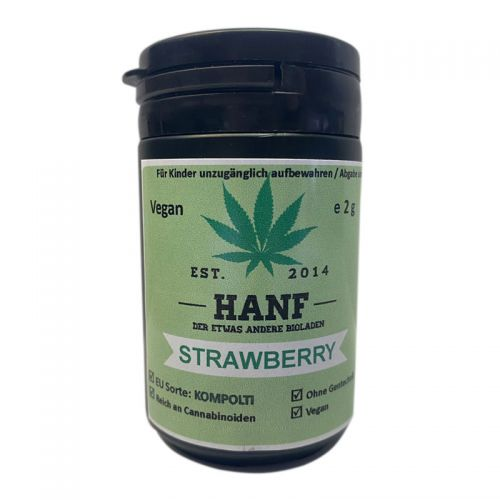 CBD Hanfblüten 3x Strawberry Haze, 6g